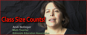 Andi Nofziger speaks out about why class size counts!
